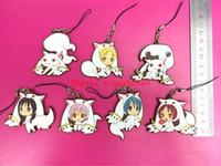 Wholesale puella figure resale online - 35 Anime Magical Girls Puella Magi Madoka Magica Figure Keychain phone strap pvc Pendants Toy gifts