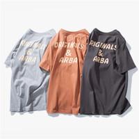 ingrosso cotone nero cotone camicie-Maglietta da uomo estiva Maglietta morbida in cotone stampata con stampa Cina Vintage Nero Grigio Maglietta allentata M-2XL