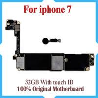iphone motherboard mainboard großhandel-100% gut getestet Motherboard für iPhone 7 4,7 Zoll 32 GB Original ab Werk entsperrt Mainboard mit Touch ID IOS Update-Unterstützung