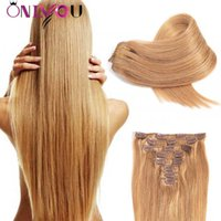 Wholesale clip human hair extensions 8pcs for sale - Onlyouhair Full Head Straight Clip In Human Hair Extensions g Unprocessed Brazilian Peruvian Indian Virgin Human Hair Clip