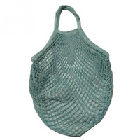 сетчатые мешки хранения игрушки оптовых-2018 Hot New Women cotton Mesh Net Single-shoulder bag Durable lightweight Shopping Bag Kids toy Fruit Storage Beach Handbag