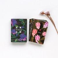 cartes de fleurs fraîches achat en gros de-W46 28 pcs / Pack Frais Misty Flower Forest Lomo DIY Carte Postale Post Carte De Vœux Picture Decor Message Laisser Des Cartes