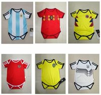 Wholesale cups for children - France Soccer Jerseys BABY For 6 To 18 Month 2018 world cup national team Brazil kids Soccer Jersey Portugues Mexico children football shirt