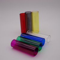 tanque kangertech cupti al por mayor-kangertech kanger cupti Reemplazo Reemplazo Pyrex Glass Tank Tube 60mm * 19mm tubos de vidrio de vidrio de pyrex grueso colorido