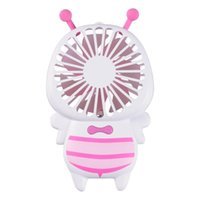 Wholesale small electric lights online - New Creative Luminous Electric Night Lamp Mini Usb Rechargeable Fan Wedding Favors Small Bee Portable Hand Hold Fans Hot Sale zk aa