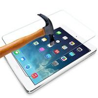 ingrosso blu sbloccare i telefoni-Vetro temperato protettivo della protezione dello schermo di 9H 0.3mm di esplosione di Shatter Pro per iPad 2 3 4 per ipad Air 2 nessun pacchetto