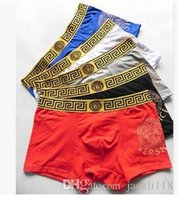 Wholesale printed boxers - 2018 Fashion Sexy Cotton For New Brand Letter Print For High Breathable Comfortable Men Boxer Underwear