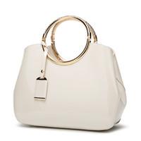 Wholesale diagonal zipper - 2018 Trendy Fashion New High-grade patent leather handbag Elegant and elegant Handbags Shoulder bag, diagonal package