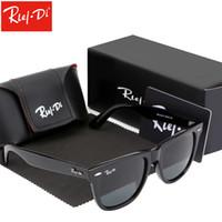 vidrio espejo cuadrado al por mayor-Cuadrado de la vendimia gafas de sol para hombre diseñador de la marca 54 MM Unisex Retro gafas de conducción lentes de cristal espejo gafas de sol mujeres Oculos