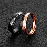 ювелирные изделия из титана оптовых-Ювелирные изделия ее король его королева Любовь кольцо Оптовая мода трансграничные поставки популярные титановые стальные кольца