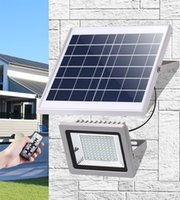 Wholesale high power wall solar lights resale online - 12000mAh Outdoor Wall Light W W W W IP65 Security Light High Power Solar Floodlight For Path Yard Garden