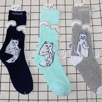 носки среднего пальца оптовых-RIPNDIP носки прилив бренд средний палец скейтборд запасы полотенце запасы для любителей спорта на открытом воздухе носки гетры запасы