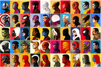 Wholesale giclee poster - Super Hero Character Collection Poster Oil Painting Art Giclee Canvas Poster HD Print Poster Oil Painting Art Wall For Home Decor