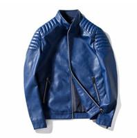casacos de couro para homens venda por atacado-Jaqueta de couro de moda de negócios dos homens outono inverno casaco de couro dos homens jaqueta de couro dos homens de negócios casuais casaco