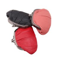 Wholesale Wholesale Small Metal Letter - Fashion Women Sheepskin Coin Purse Cute Ladies Small Purse Coin Two Metal Button Pocket Pouch Key Credit Card Holder