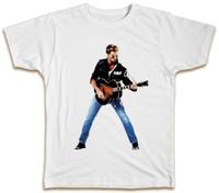 Wholesale george t shirt online - George Michael Guitar T Shirt Retro Vintage Summer Music Wham Top Gift