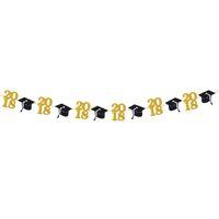 Wholesale graduation cap candy box - 2.8m Class Of 2018 Graduation Party Decorations Bunting Banner Graduation Cap Symbol Graduation Party Favors Supplies