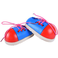 Wholesale shoelace ties for sale - Wooden Small Shoes Baby Learns To Tie The Shoelace And Wear A Rope Early Childhood Intelligence Toy Children Puzzle Toys pd W