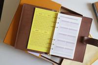 ingrosso scatole di libri in pelle-Marchio famoso Ordine del giorno di lusso Nota di marca Copertina in pelle Diary in pelle con sacchetto di polvere e scatola di carta Nota libri stile di vendita calda anello d'argento