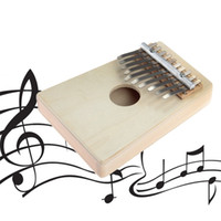 ingrosso luci dello strumento musicale-10 Finger Finger Kalimba Mbira Sanza Thumb Finger Piano Pocket Dimensione luce Giallo Gecko Tastiera Marimba Wood Musical Instrument