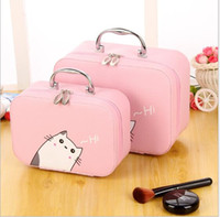 Wholesale Care Cosmetics Products - Large capacity portable Korean portable cosmetic case large waterproof toiletries skin care products storage box