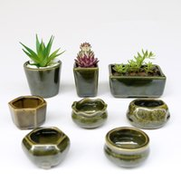 Wholesale Small Pot For Flowers - 8pc  Set Simple Shape Flower Pot For Succulents Fleshy Plants Flowerpot Ceramic Small Mini Home  Garden  Office Decoration