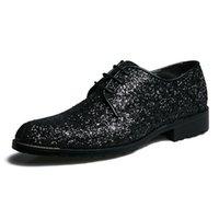 ingrosso stili di scarpe della corea-2019 nuovissimo stile coreano uomini in vera pelle scarpe da uomo di alta qualità scarpe da uomo glitter scarpe a punta