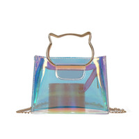 Wholesale plain handbags for sale for sale - Group buy Transparent Portable Handbags Summer Colorful Shoulder Bags Multi Function Messenger Bag Designer Brand For Women Hot Sale sw jj