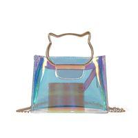 bolsas de marca coloridas venda por atacado-Transparente Bolsas Portáteis de Verão Sacos de Ombro Colorido Multi Função Messenger Bag Designer de Marca Para As Mulheres Venda Quente 10sw jj