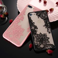 Wholesale pink lace iphone case - Phone Case For iPhone 8 7 Plus 6 6S Plus 5 5S SE Luxury Thin Sexy Women Lace Flowers Cover For iPhone 6 6S Plus Case X 10