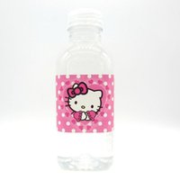 Wholesale Label Bottles - 12pcs Hello kitty label bottle label kids birthday party decoration kitty water bottle label birthday party baby shower decor