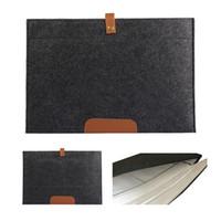 Wholesale Felt Laptop Cover - New Fashion Wool Felt Sleeve Case Bag 11 13 15 inch for Macbook Air Pro Retina Ultra Slim Light Weigth Laptop Bag Case Cover