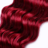 Wholesale red hair weave extensions resale online - A beautiful Malaysian Virgin Body Wave Hair Extension Human Hair Extensions Inchs Malaysian Red Color Hair Weaving g