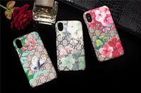 iphone hüllen tiere drucken großhandel-Für iPhone X Xs Msx XR Luxus Fall Druckmuster Tiger Schlange Biene Tier Telefon Fall für iPhone 6 6s 7 8 Plus Leder hart zurück Abdeckungen