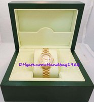 vestidos de ouro amarelo para mulheres venda por atacado-Relogio feminino SENHORAS relógios PRESIDENTE 18K AMARELO OURO DIAMANTE BEZEL 179178 Estilos Vestido
