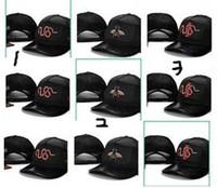 Wholesale straps for hats - Hot Sale Pop Cap Hundreds Rose Strap Back Cap Popular Rare Hats For Men Women Adjustable Panel Golf sports bone Snapback Baseball Caps