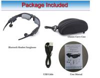 auriculares de anteojos al por mayor-Gafas inteligentes Bluetooth V4.1 Sunglass 4 colores Sun Glass Deportes Auriculares Reproductor de MP3 Bluetooth Teléfono Auriculares inalámbricos Bluetooth Gafas