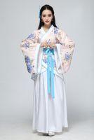 trajes tradicionales chinos de las mujeres al por mayor-2018 verano antiguo traje chino mujeres ropas trajes Trajes de baile Hanfu hermosa Traje femenino Sobretudo