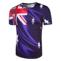 Wholesale australian shirt online - Australian Team Fan T shirt d Print Flag World Cup t shirts Russia Shirt New Brands Jersey Short Sleeve Cotton d Mens Shirt