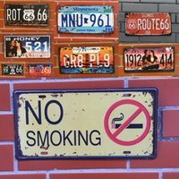 Wholesale Tin Toy Retro - 40 Styles Retro License Plate Metal different themes beer garage warning Motor Vintage Craft Tin Sign Retro Metal Painting Poster Bar Pub