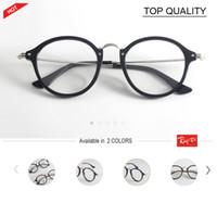 Wholesale Vintage Optic Glass - 2018 brand designer Round Glasses Men Women's cool frame plank Eyewear vintage Female Optics Eyeglasses Clear Lens retro circle spectacle