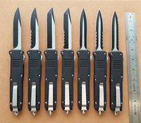 Wholesale knife size - BM Full size Large C07 D A AUTO knives Steel inch camping knife with nylon sheath blade styles