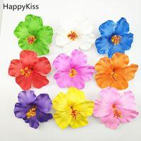 frangipani saç tokaları toptan satış-Sıcak 1 adet Hula Kızlar Köpük Hawaiian çiçek Hibiscus gelin saç tokası 9 cm frangipani çiçek takı Tokalarım Şapkalar Saç