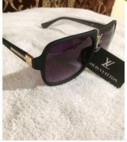 Wholesale French Logos - New french luxury brand 9012 sunglasses women fashion star style polarizing eyewear men high quality driving sun glasses with logo 2018