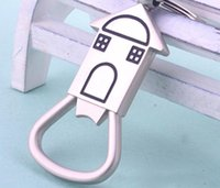 Wholesale unique bottle opener keychain resale online - 2017 Unique Warm House Beer Bottle Opener Key Chain Glossy Alloy Keychain Keyrings Bar Tools Best Gifts Souvenirs SN457