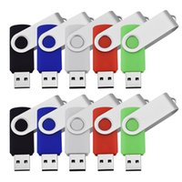 Wholesale Bulk GB USB Flash Drive Swivel Thumb Pendrives USB Memory Sticks True Storage for Computer Laptop Multi Colors