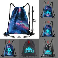 Wholesale glow party clothes for sale - Fortnite Luminous Drawstring Bag Travel Softback Backbags Glow in Dark Schoolbags Game Figures Backpacks Kids Party Gift Beach Pouch Bag