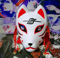 Wholesale itachi uchiha full cosplay for sale - NARUTO MASK Full Face Hand Painted ITACHI UCHIHA Fox Mask Kitsune Cosplay Masquerade Halloween Party Masks