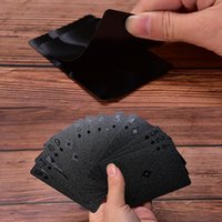 Wholesale black poker cards resale online - New Waterproof Black Playing Cards Collection Black Diamond Poker Cards Creative Gift Standard Playing Cards SC137