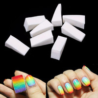 uñas descoloridas de color al por mayor-Belen 8 unids Gradient Nails esponjas suaves para color Fade Manicure DIY creativo Nail Art Tool accesorios cambio de color esmalte de uñas